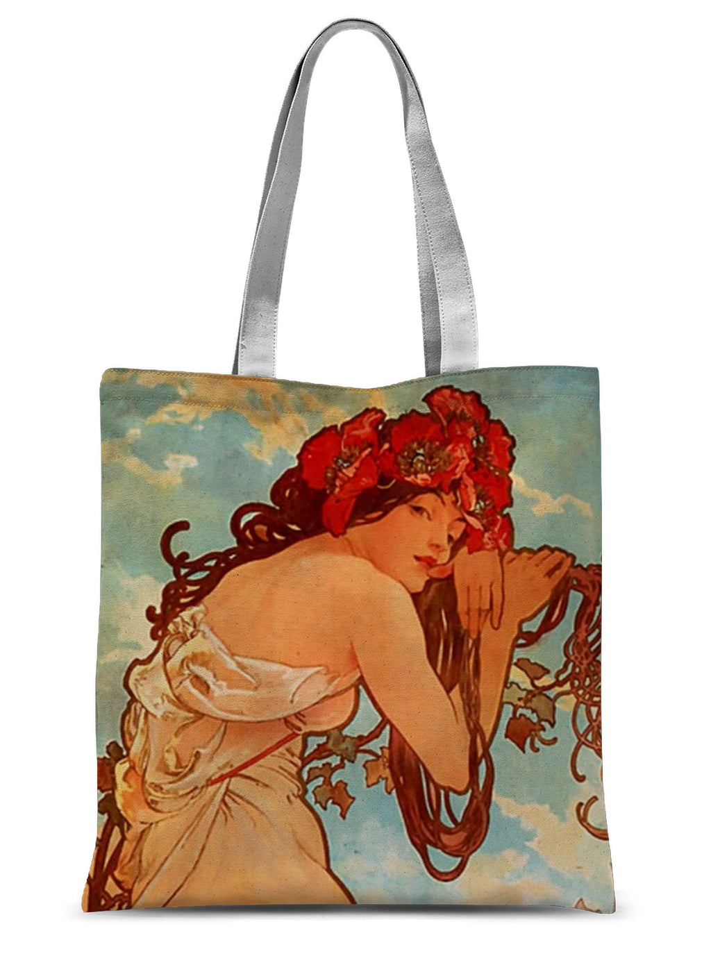 Summer, 1896 - Alphonse Mucha Sublimation Tote Bag