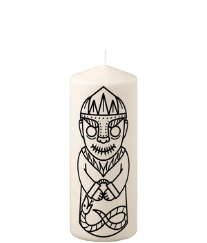 Viking God of Mischief Loki Pillar Candle