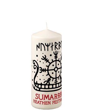 Pillar Candle Sumarrblot Sun Ship