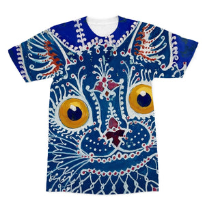 A Cat in The Gothic Style by Louis Wain Sublimation T-Shirt