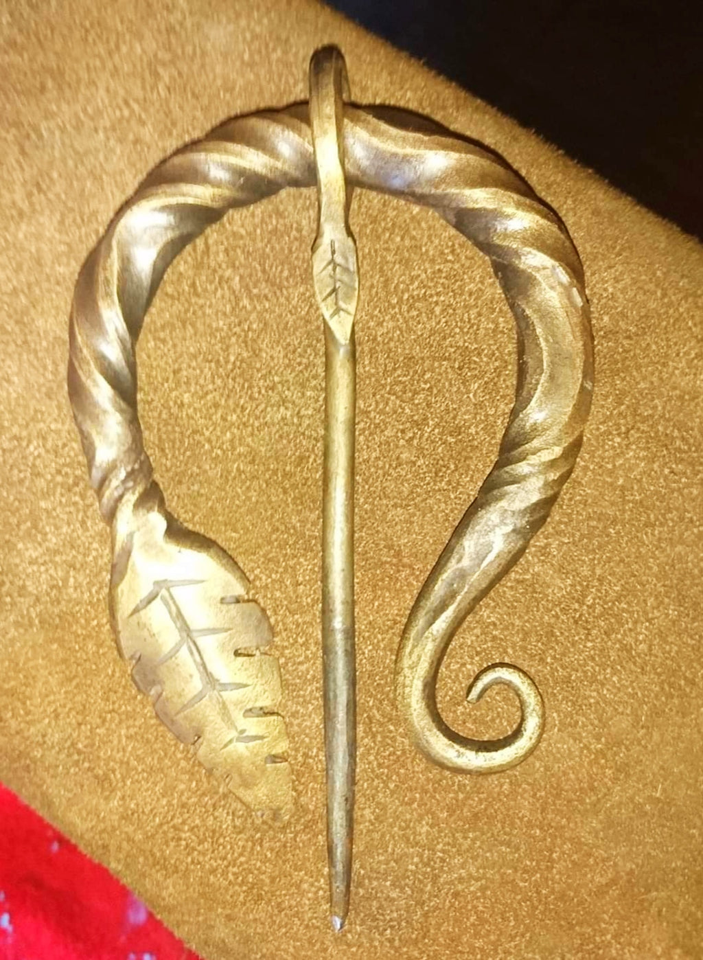 Handforged Steel Cloak Pin