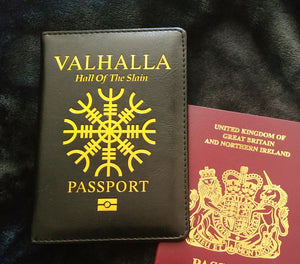 Valhalla Viking Passport Cover/Notebook Holder