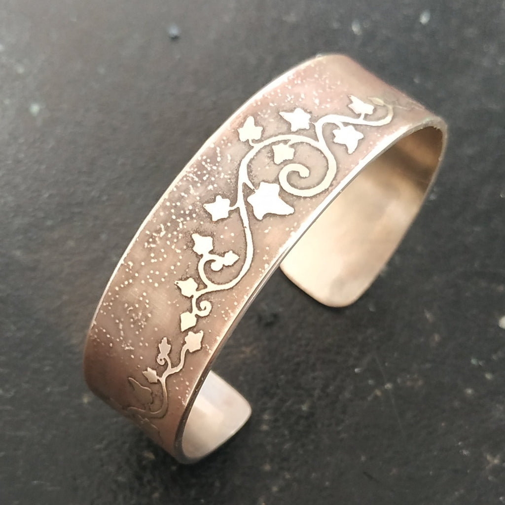 Ivy Bracelet in Antique Copper or Silver Plated Copper