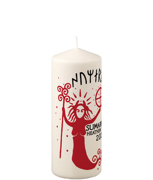Pillar Candle Sumarrblot Red Shaman