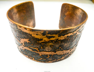 Tree Bracelet Copper with Scots Pine Bark Texture