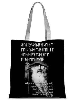 Havamal 127 - Where you Recognise Evil Sublimation Tote Bag