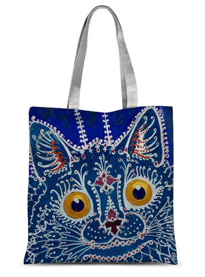 A Cat in The Gothic Style by Louis Wain Sublimation Tote Bag