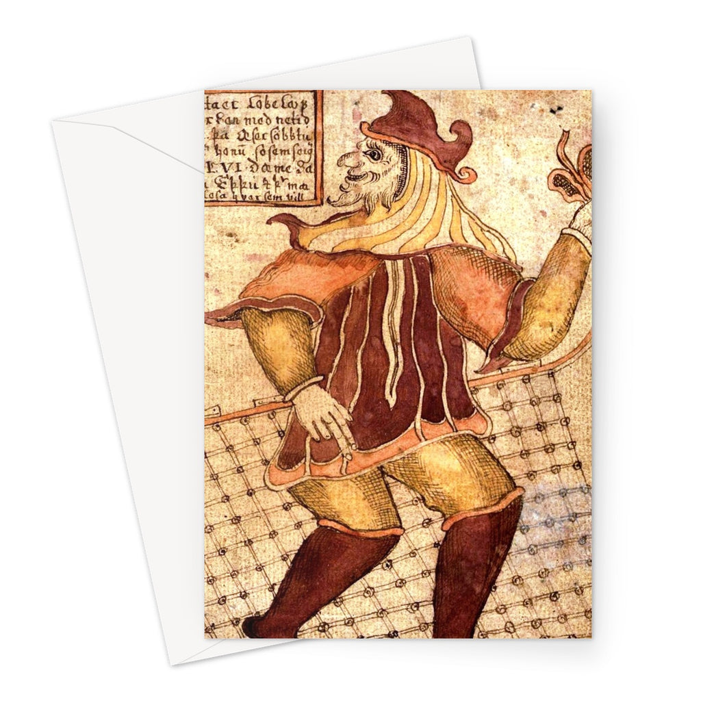 Loki - Icelandic Manuscript Greeting Card