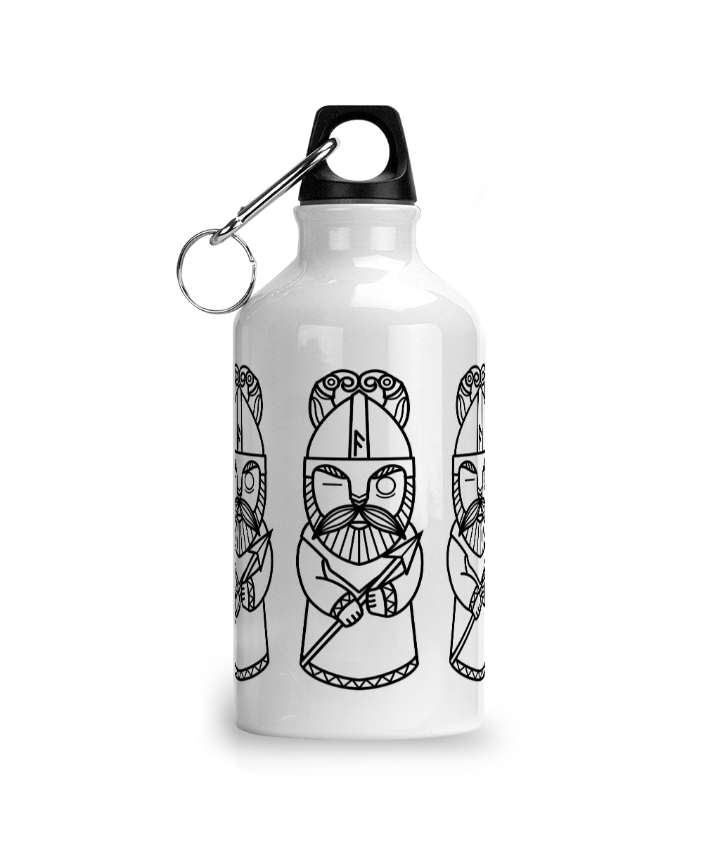 Viking God Odin Aluminium Sports Water Bottle