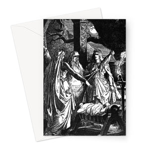 The Norns  by Johannes Gehrts (1889)  Greeting Card