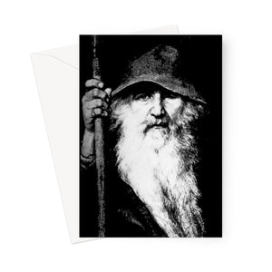 Odin Wise Wanderer Greeting Card