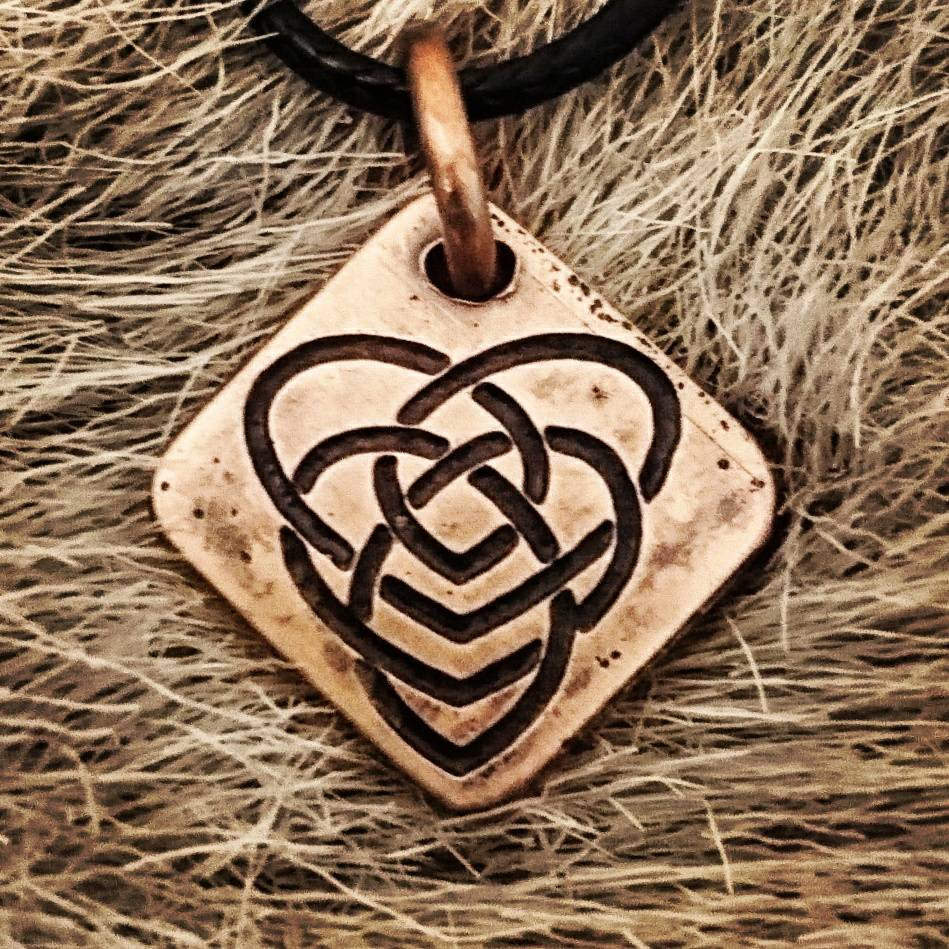 Beautiful Copper Celtic Motherhood Knot Pendent.