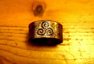Celtic Triskelle Ring (bronze, copper or brass)