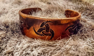 Odin Triple Horn Armband- Norse God of War and Death
