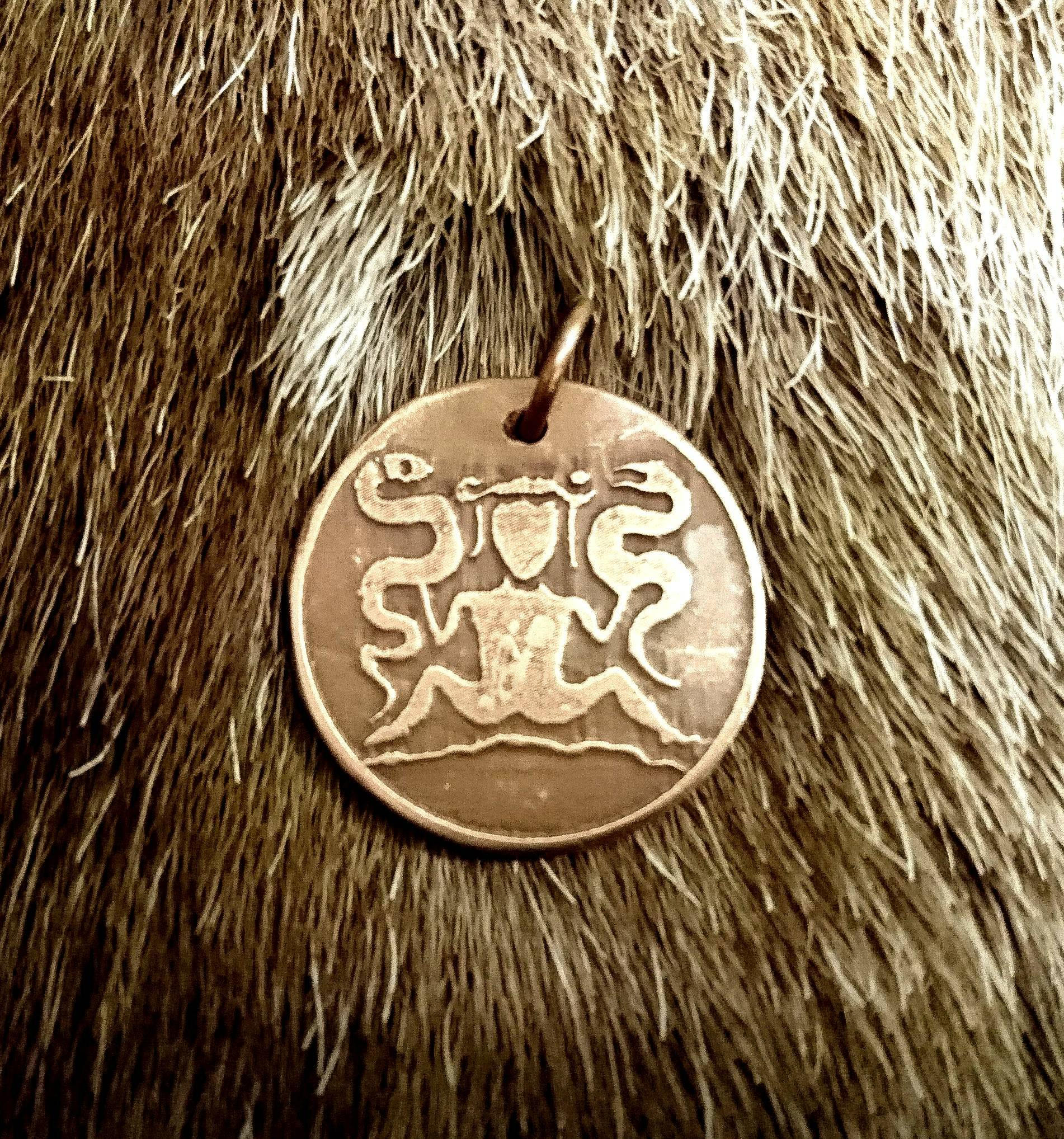 Snake Witch Pendant Ormgudinna, The Lady of the Beasts, Goddess Pendant