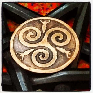 Bespoke Pagan Altar Plaque in Copper