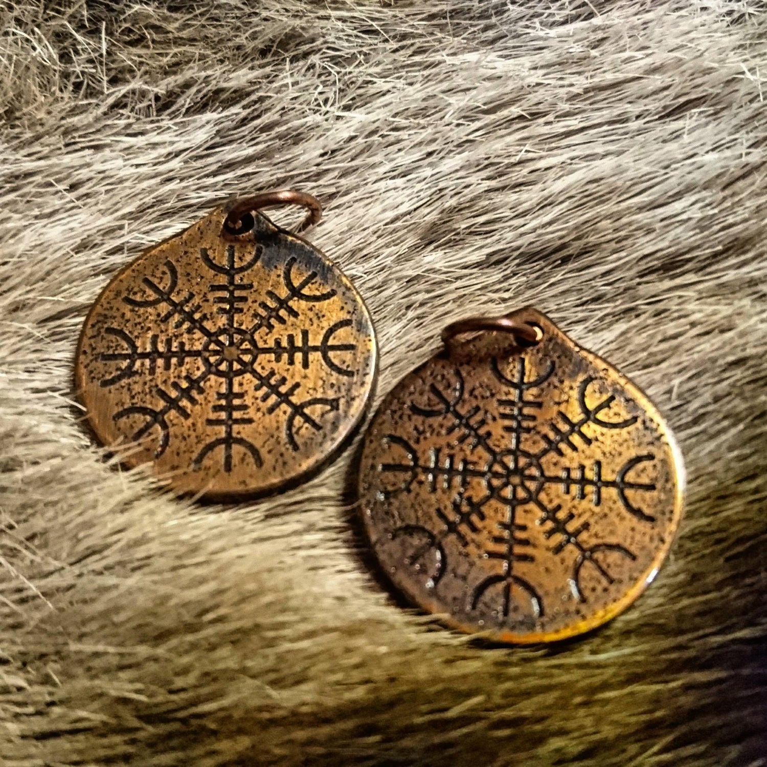 Helm of Awe Pendant-Viking symbol of Protection, Aegishjalmer