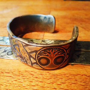 The Legends of The Norse - Viking Armband Cuff Bracelet available in Bronze or Copper (Vikings, Norse, Asatru, Odin, Thor, Biker)
