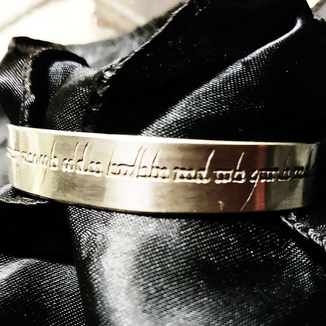 Bespoke Personalised Custom Made Silver Plated Copper Cuff Bangle Bracelet