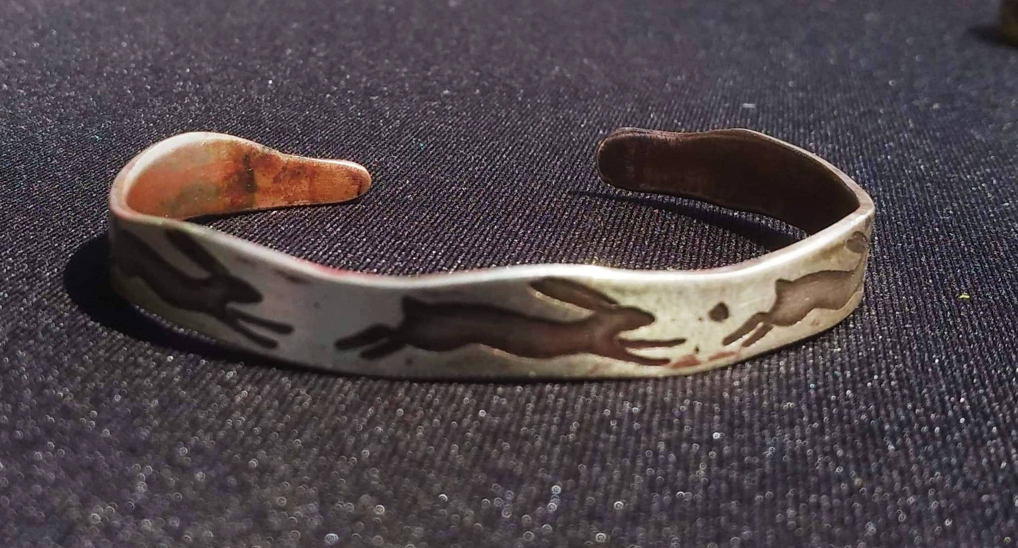 Spirit of the running Hare cuff bracelet. Wave edition