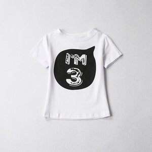 Birthday age t-shirt tee boys girls monochrome