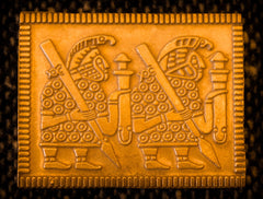 Helm Plaque - Right Facing, with Spears - PV01