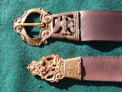 16th Century Plain Eagle Belt, Brown - FB166