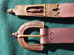 15th Century Plain Acorn Belt, Brown - FB106