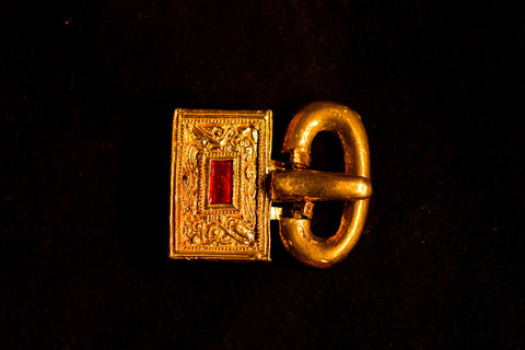 Germanic Buckle with Red Inlay - A-47