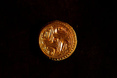 Frankish - Germanic Round Brooch - Chip Carved! - A-60