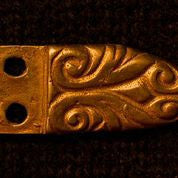 "Belt Tip with Floral Design - 1/2"" - B-72"