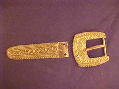 Viking Belt set with Spirals - B68B75