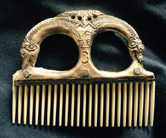 Viking Comb or Fire Striker holder with Boar pattern - J-21