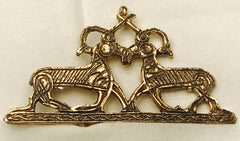 Stags Fighting Pendant/Brooch J-31