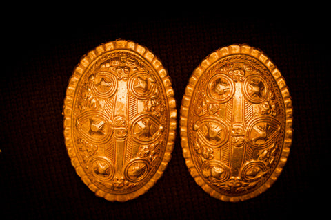 Viking Short-Studded Turtle Brooches - TB28