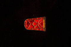 Large Sutton Hoo enamel belt tip - S-30
