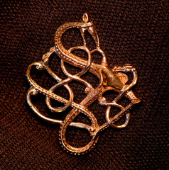 Open Knot Dragon Pendant - N-47