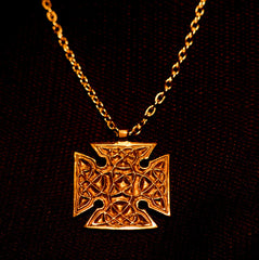 Square celtic cross, double sided - C-04