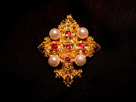 Cross - 16th C with pearls! - C14L