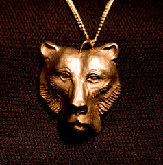 Bear Head Pendant - F-27