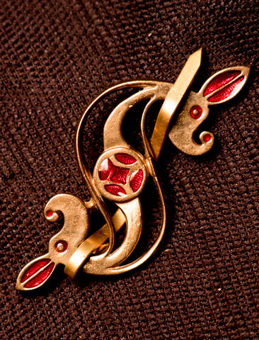 Roman Brooch - open Dragonesque - R-14