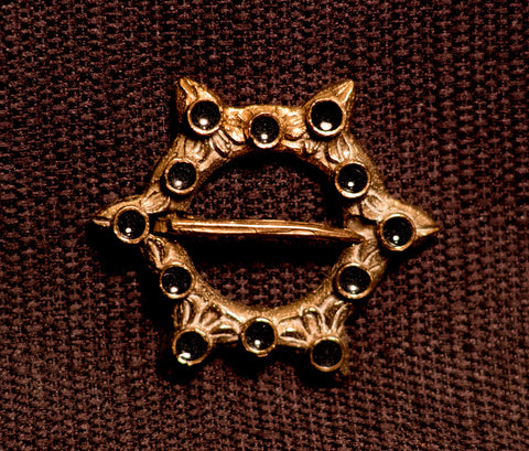 Annular Brooch with Enamel - W-20