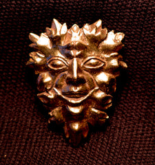 Green Man Brooch - W-68