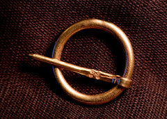 Simple Large Annular Brooch - W-70