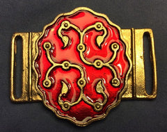 Persian Belt Mount with Red Enamel - PZ05