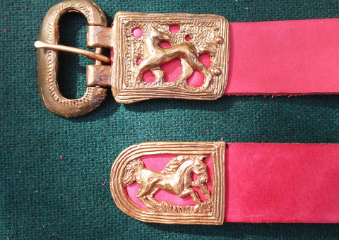 Norman Horses Belt, Red - FB181