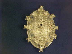 Irish Turtle Brooch with Bears! - TB30