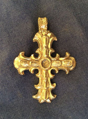 Cross - Ornate with scalloped Edges U-7