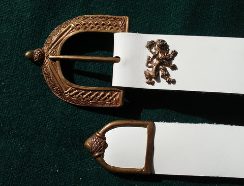 16th Century Lion Belt, White - FB137
