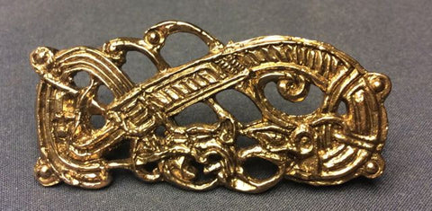 Viking Belt Mount - Dragon and Interlaced Snakes! - G42